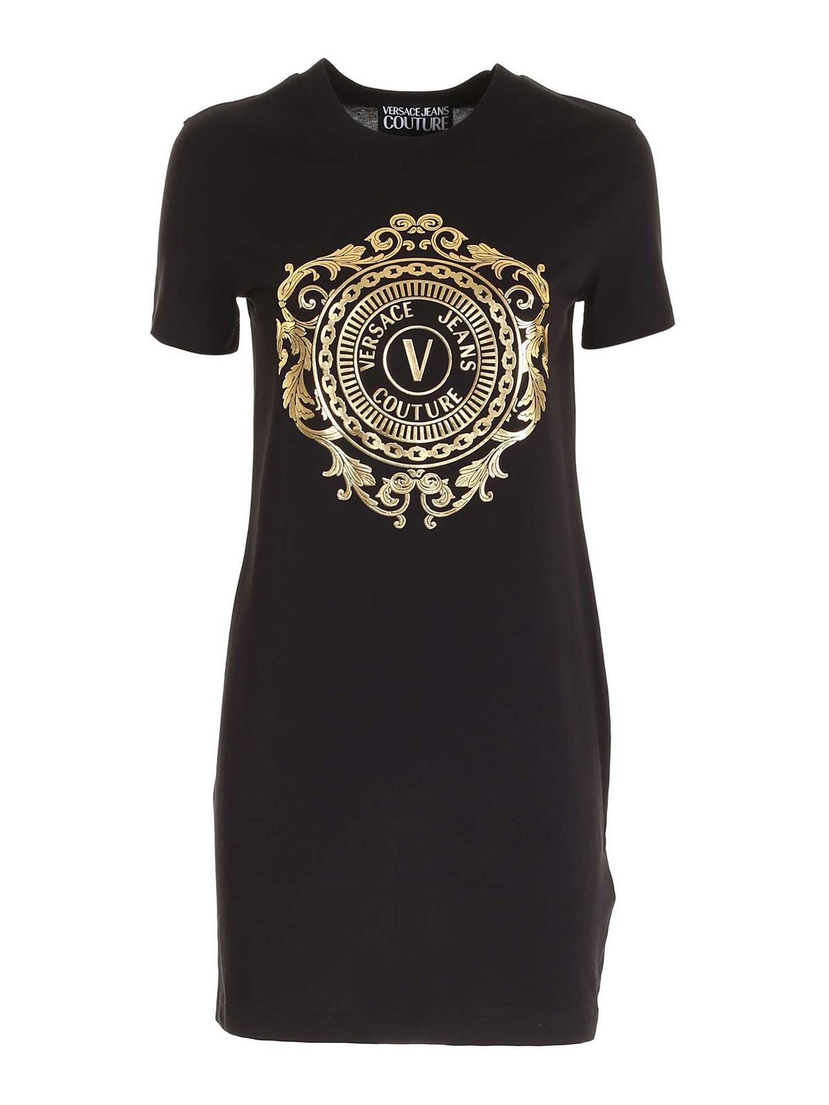 Versace Jeans Couture Cottons LOGO DRESS IN BLACK