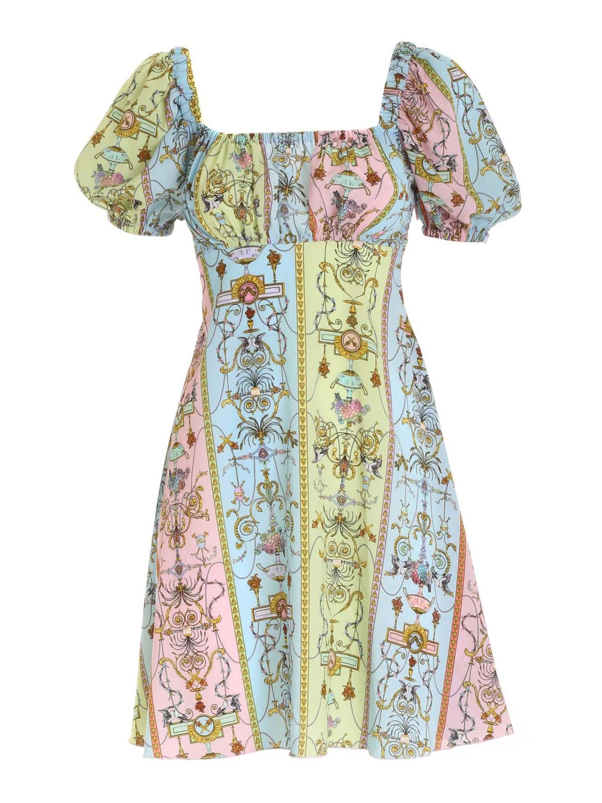 Versace Jeans Couture Dresses TUILERIES PRINT DRESS IN LIGHT BLUE
