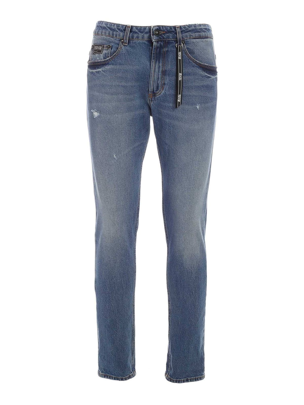 Versace Jeans Couture LOGO JEANS IN FADED BLU