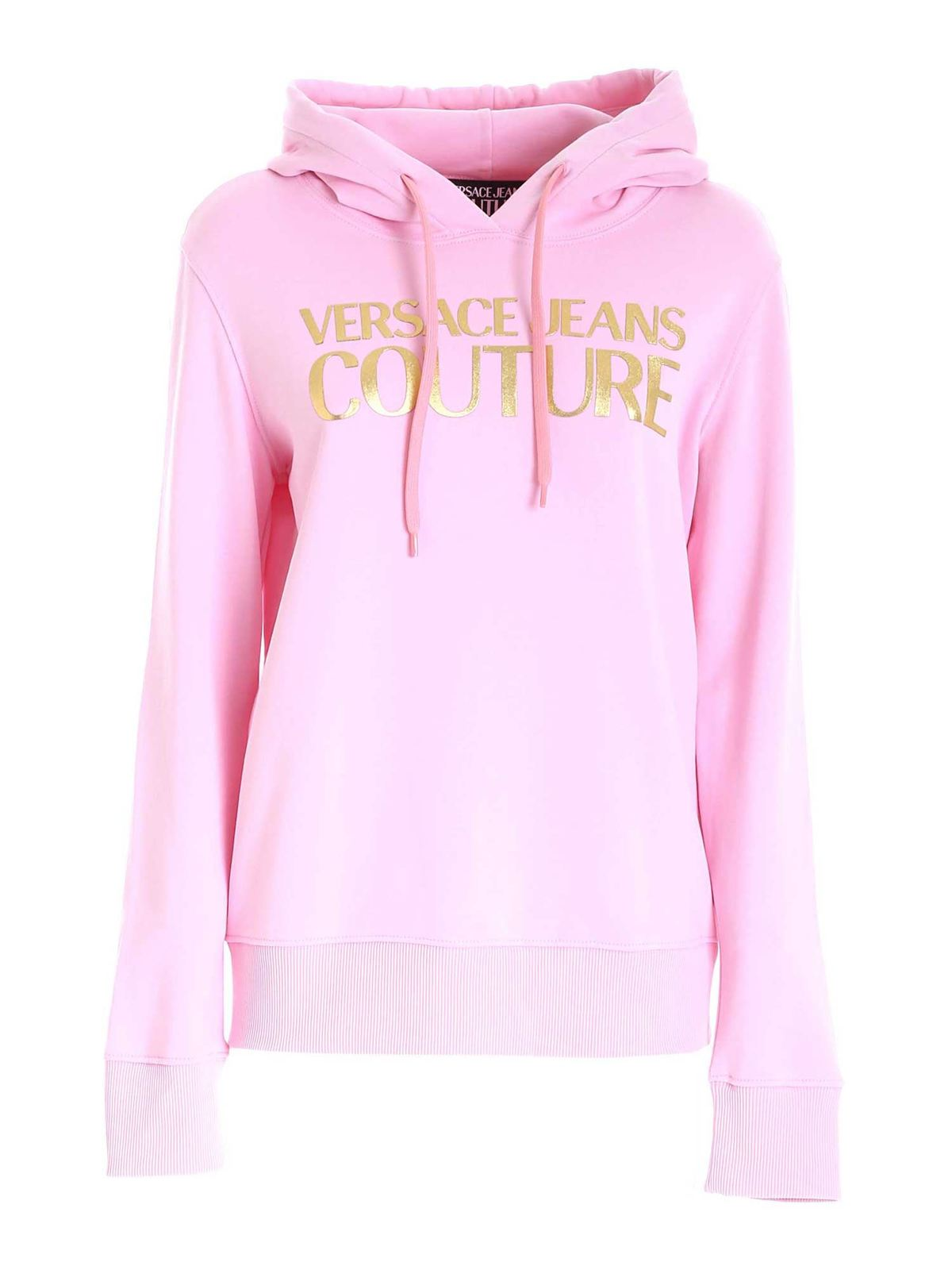 VERSACE JEANS COUTURE PINK HOODIE