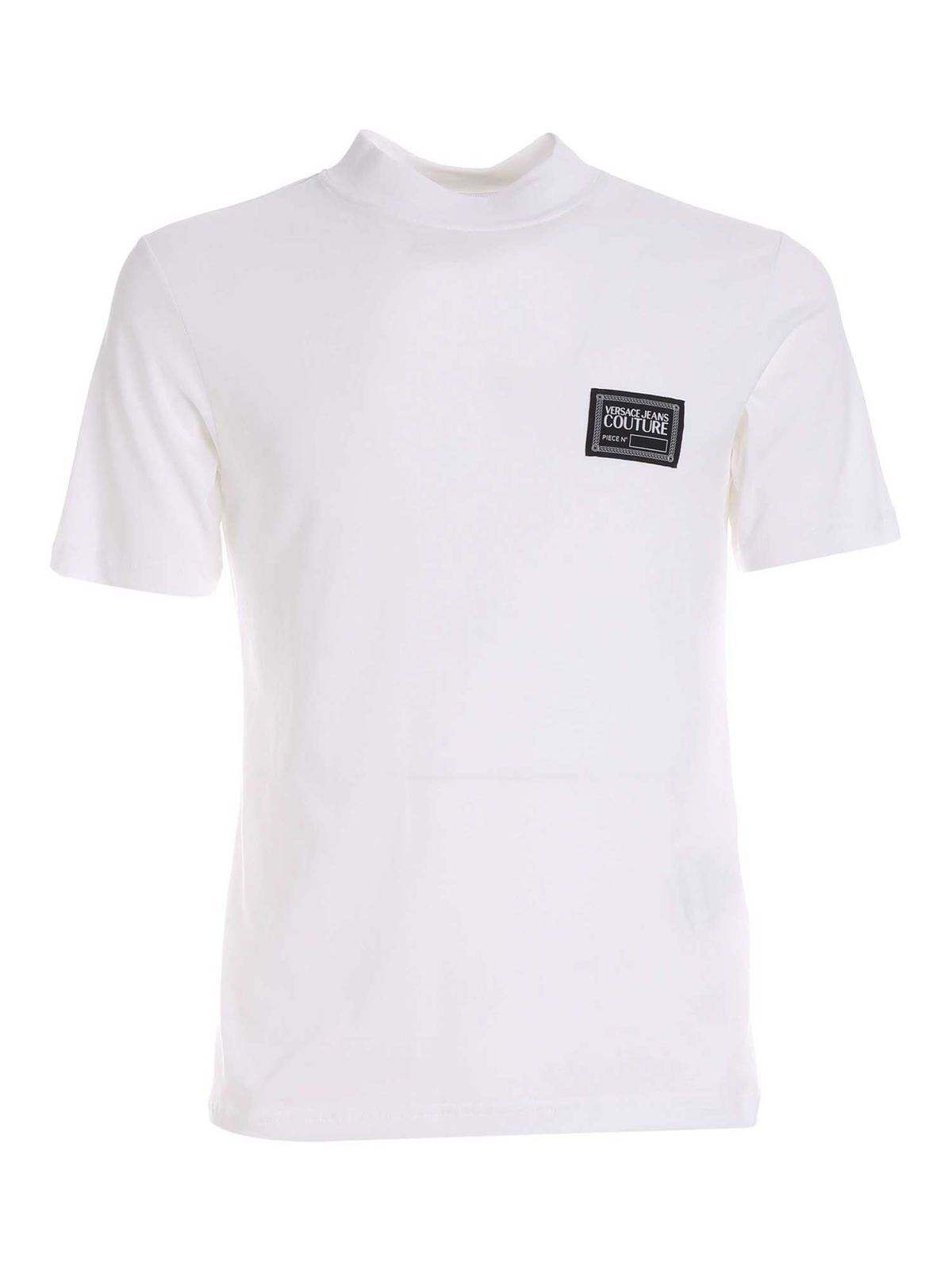 Versace Jeans Couture LOGO PATCH T-SHIRT IN WHITE