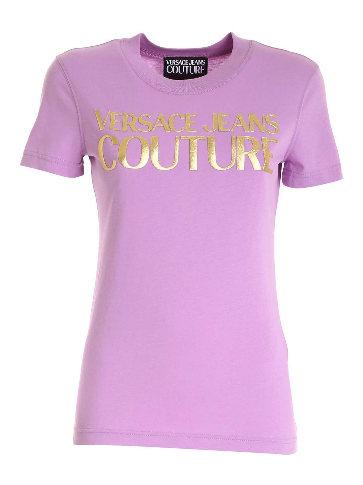 Versace Jeans Couture PRINT T-SHIRT IN PURPLE