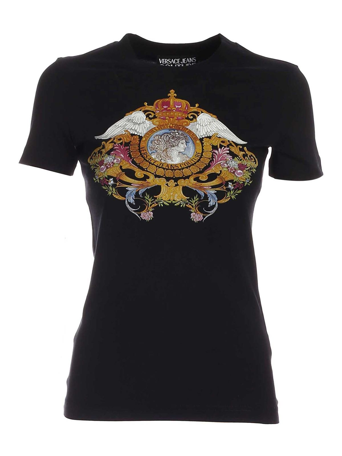 Versace Jeans Couture VERSAILLES PRINT T-SHIRT IN BLACK