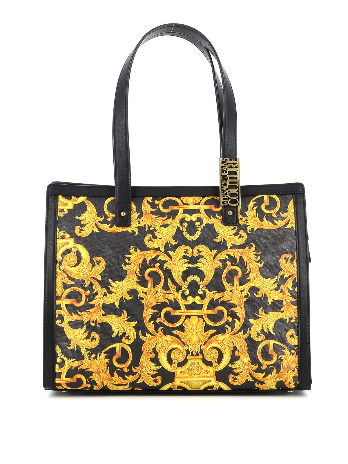 Versace Jeans Couture Leathers BAROQUE PRINT SAFFIANO TOTE