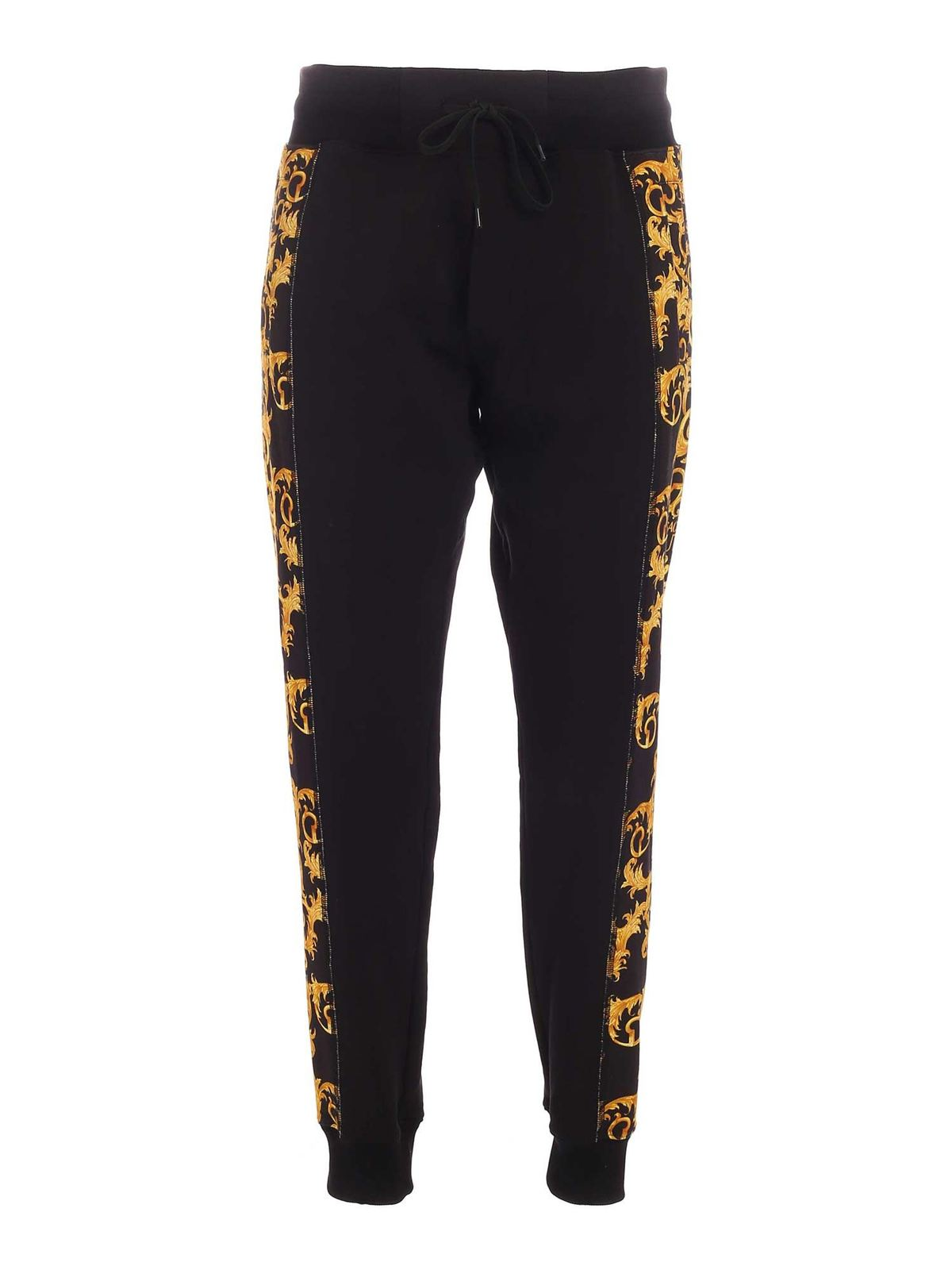 Versace Jeans Couture Track pants BAROQUE LOGO PRINT JOGGERS IN BLACK