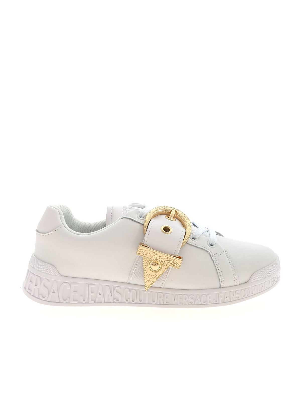 Versace Jeans Couture BUCKLE SNEAKERS IN WHITE