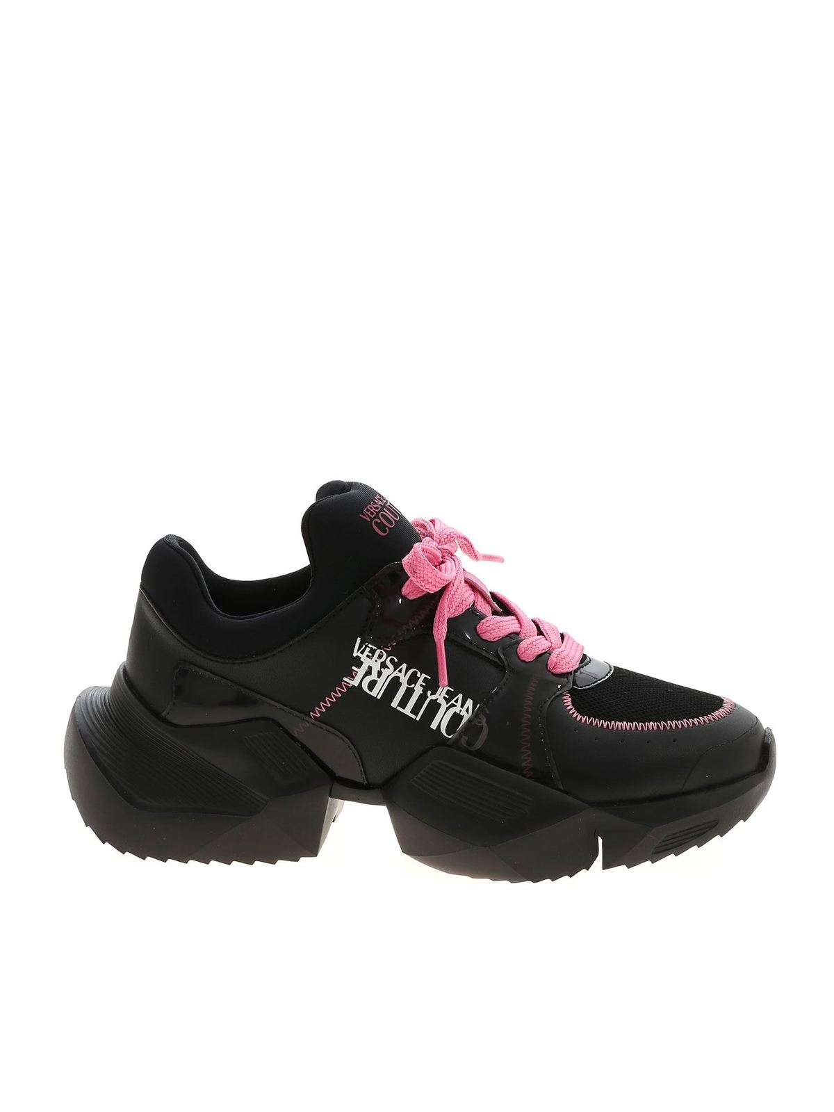 Versace Jeans Couture CONTRASTING DETAILS SNEAKERS IN BLACK