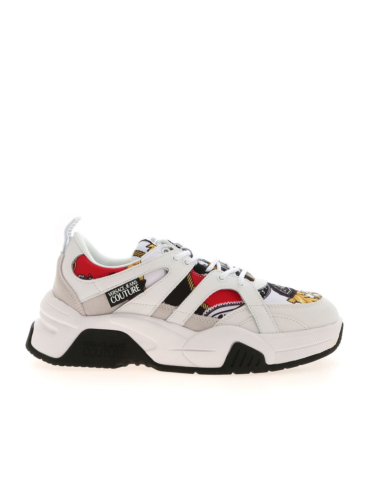 Versace Jeans Couture CONTRASTING DETAILS SNEAKERS IN WHITE