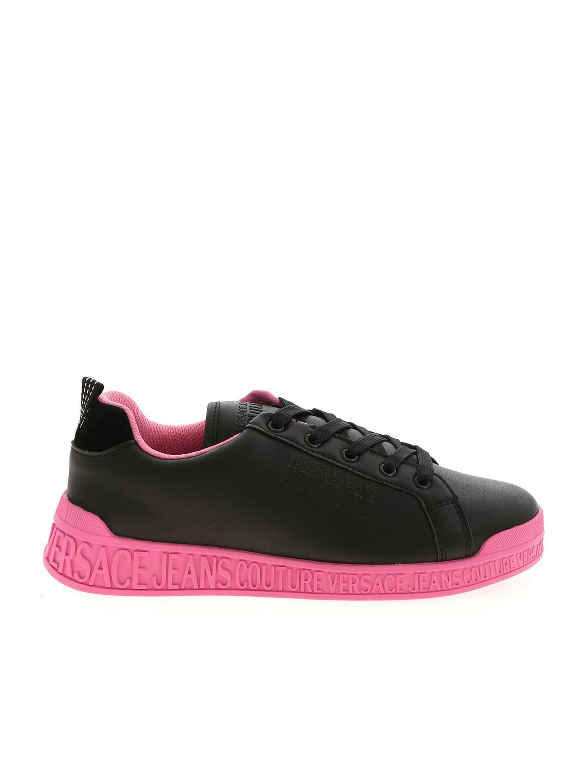 Versace Jeans Couture LOGO DETAIL SNEAKERS IN BLACK