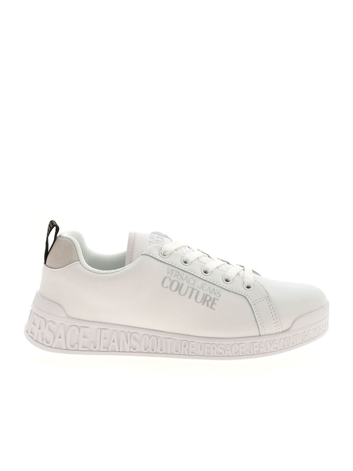 Versace Jeans Couture LOGO DETAIL SNEAKERS IN WHITE