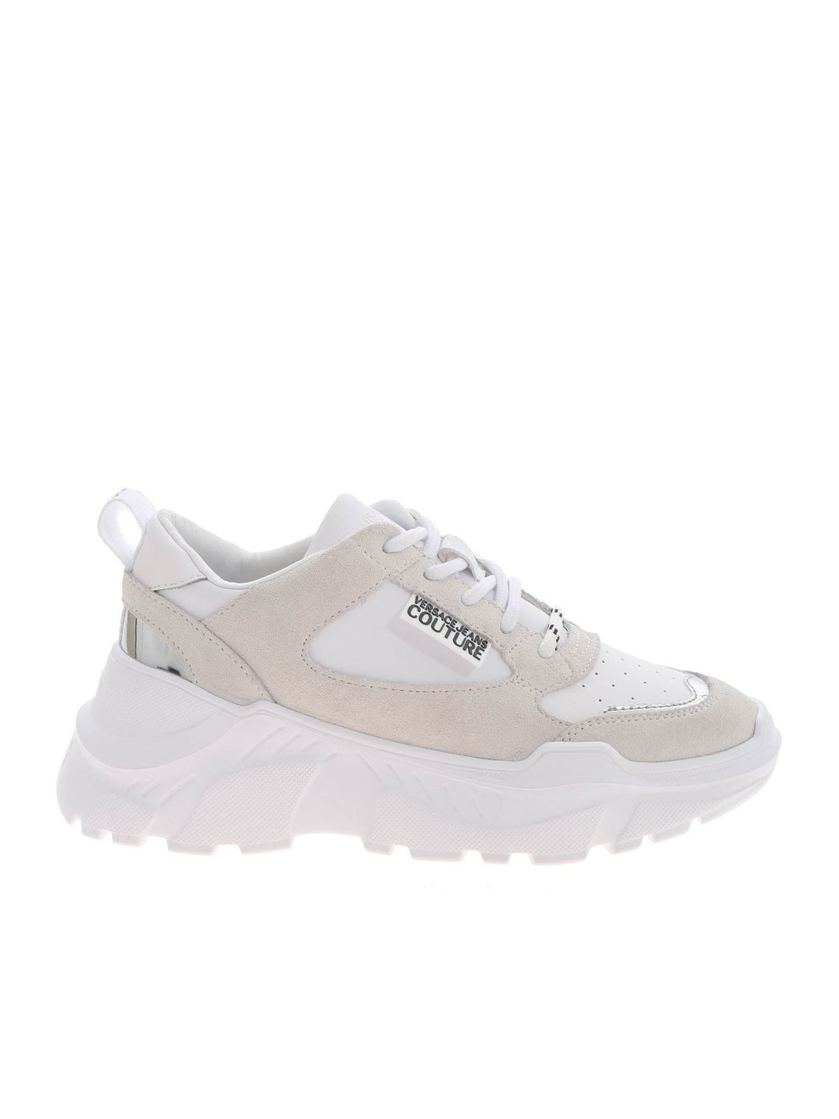 Versace Jeans Couture MIRRORED DETAILS SNEAKERS IN WHITE