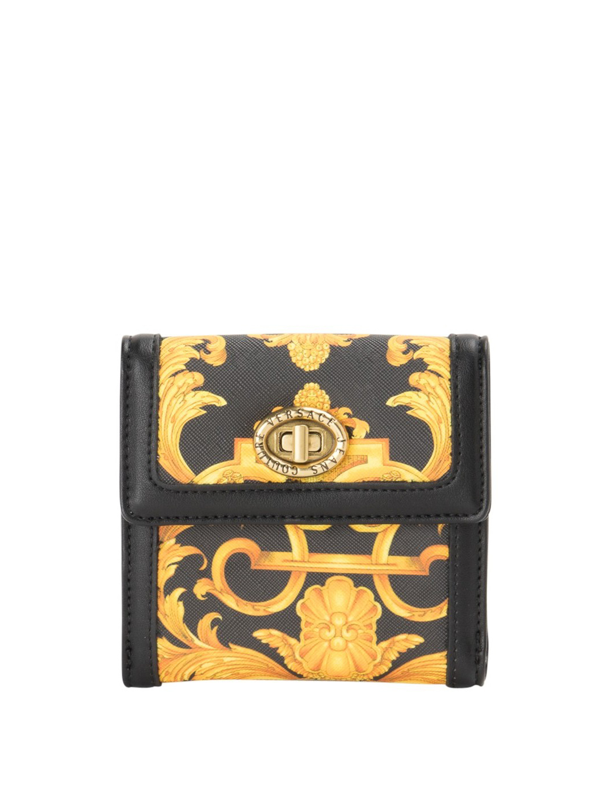 Versace Jeans Couture Wallets BAROQUE PRINT LOCK BIFOLD WALLET