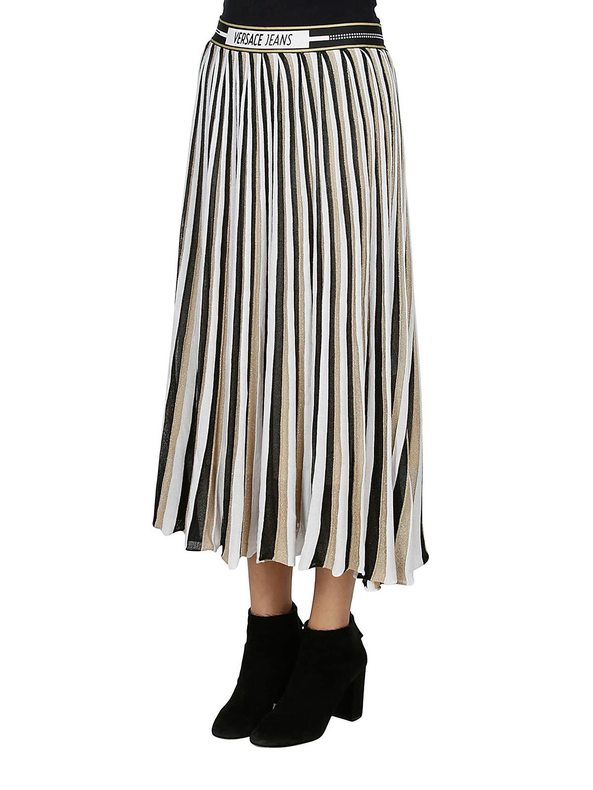 6ad30b5c8 VERSACE JEANS: Knee length skirts & Midi online - Tricolour pleated skirt