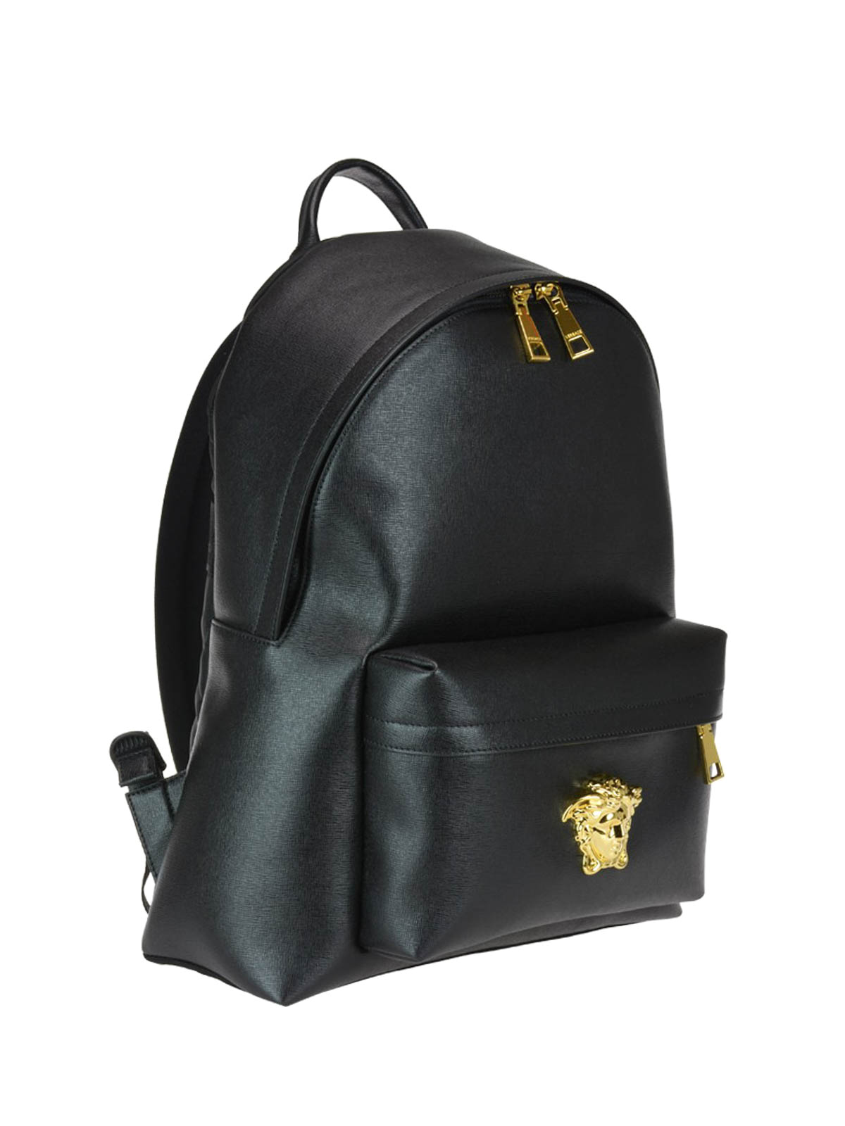 3b720a162b Versace - Palazzo black saffiano leather backpack - backpacks ...
