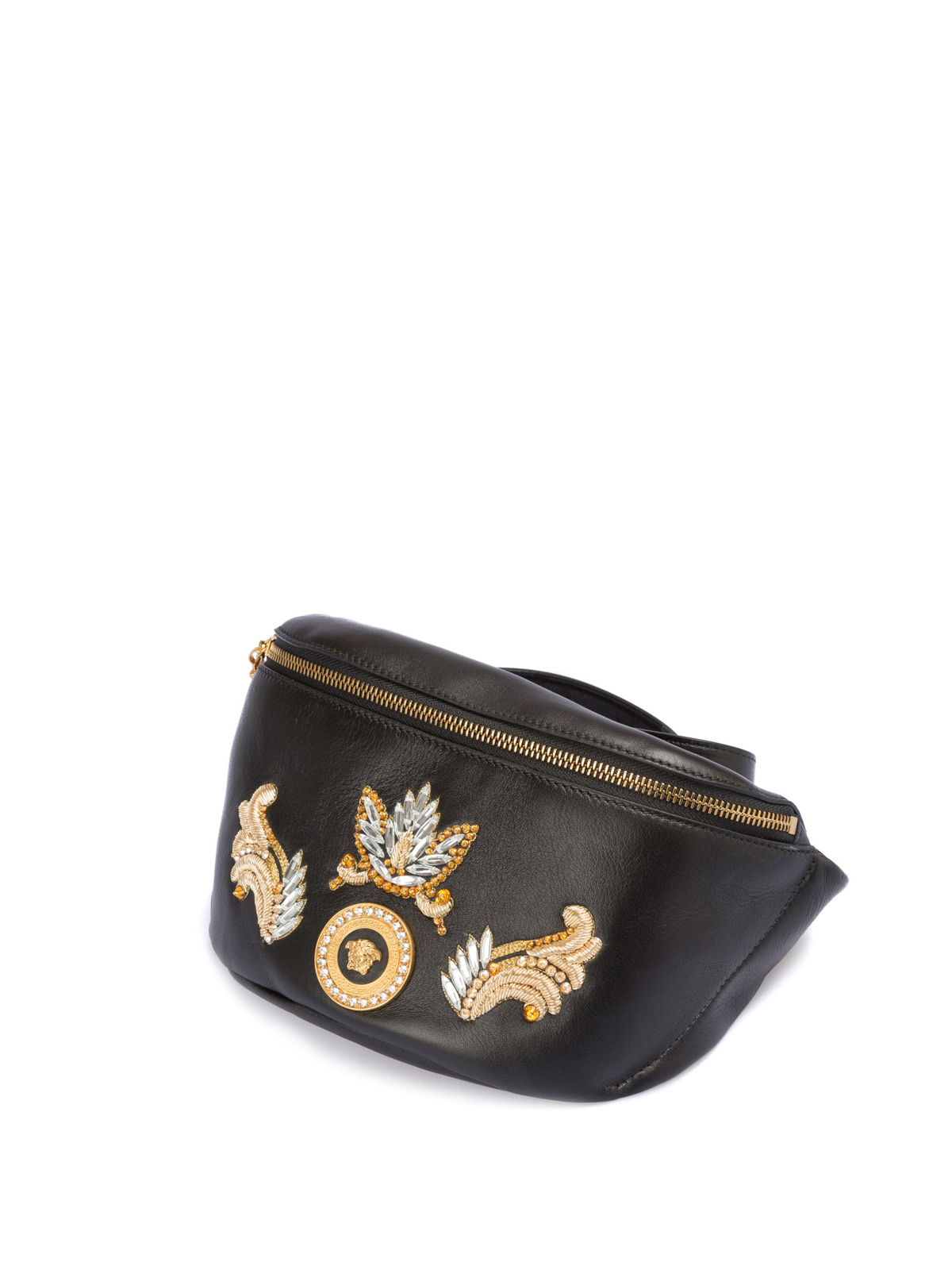 VERSACE  belt bags online - Baroque embroidered leather bum bag 18a61662eb6fc