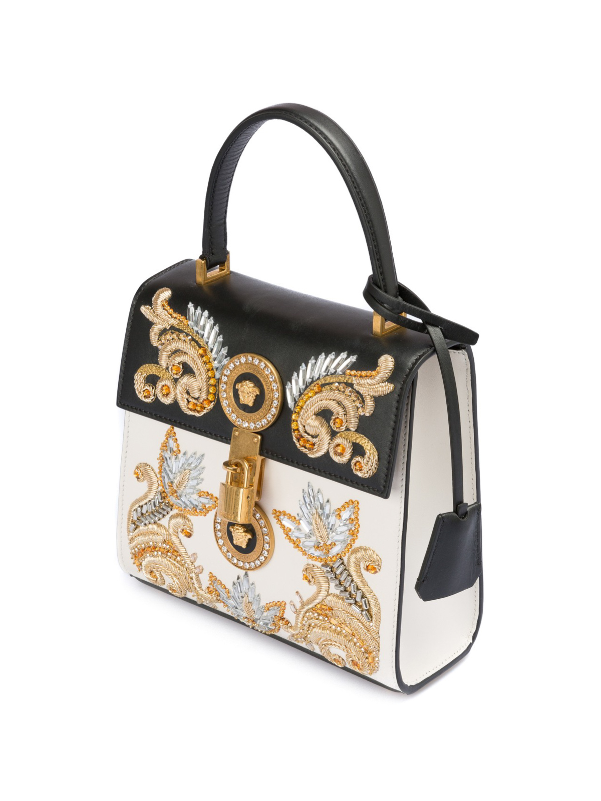 99cbb458e3 Versace - Baroque embroidered leather bag - cross body bags ...