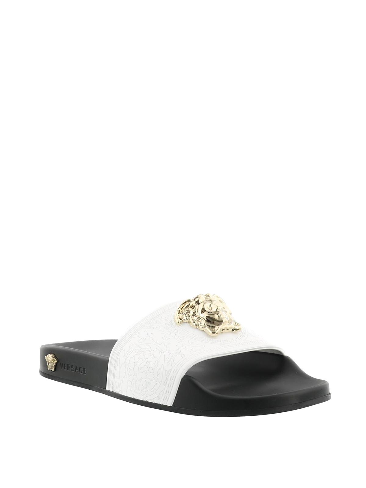 25b01010abc64f Versace - Medusa Head rubber slide sandals - sandals - DSR262C ...