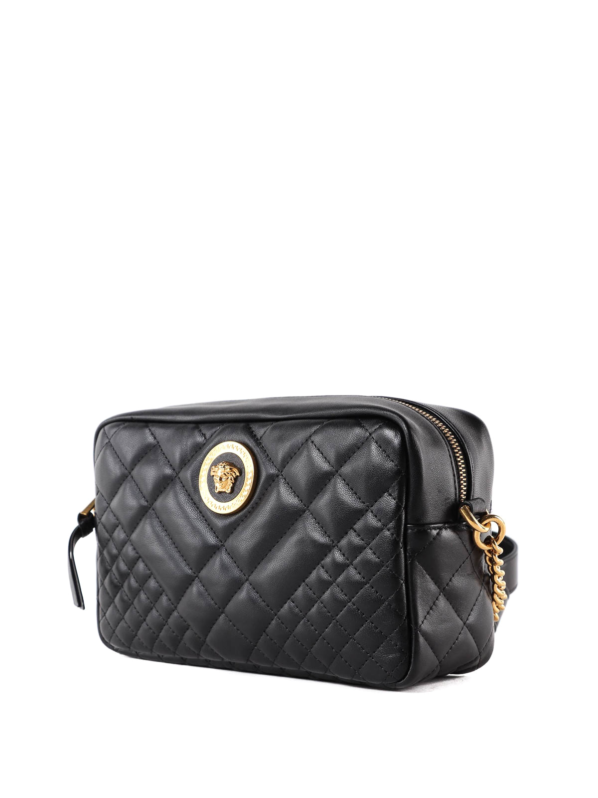 VERSACE  shoulder bags online - Medusa black quilted nappa shoulder bag 529084a66346a