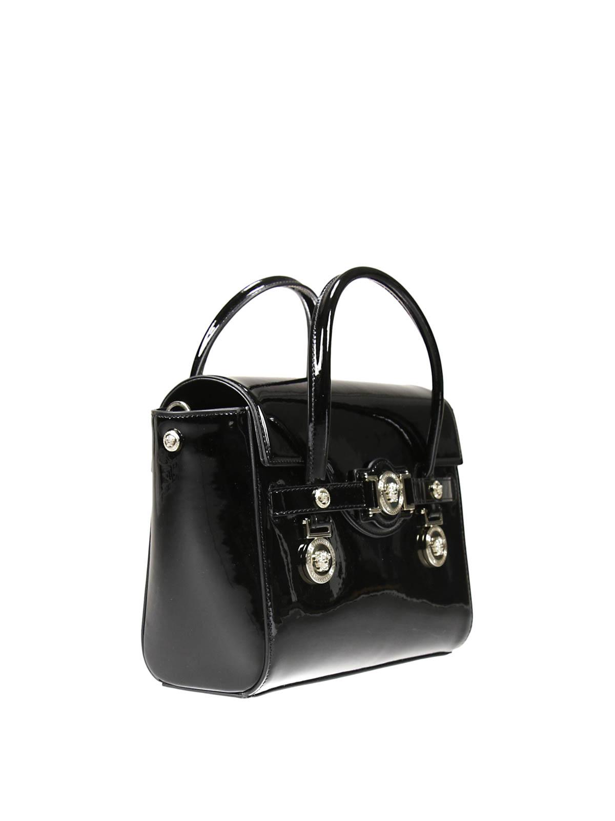 Versace - Signature patent leather bag - shoulder bags - DBFD703 DVVRN b1cebf198d953