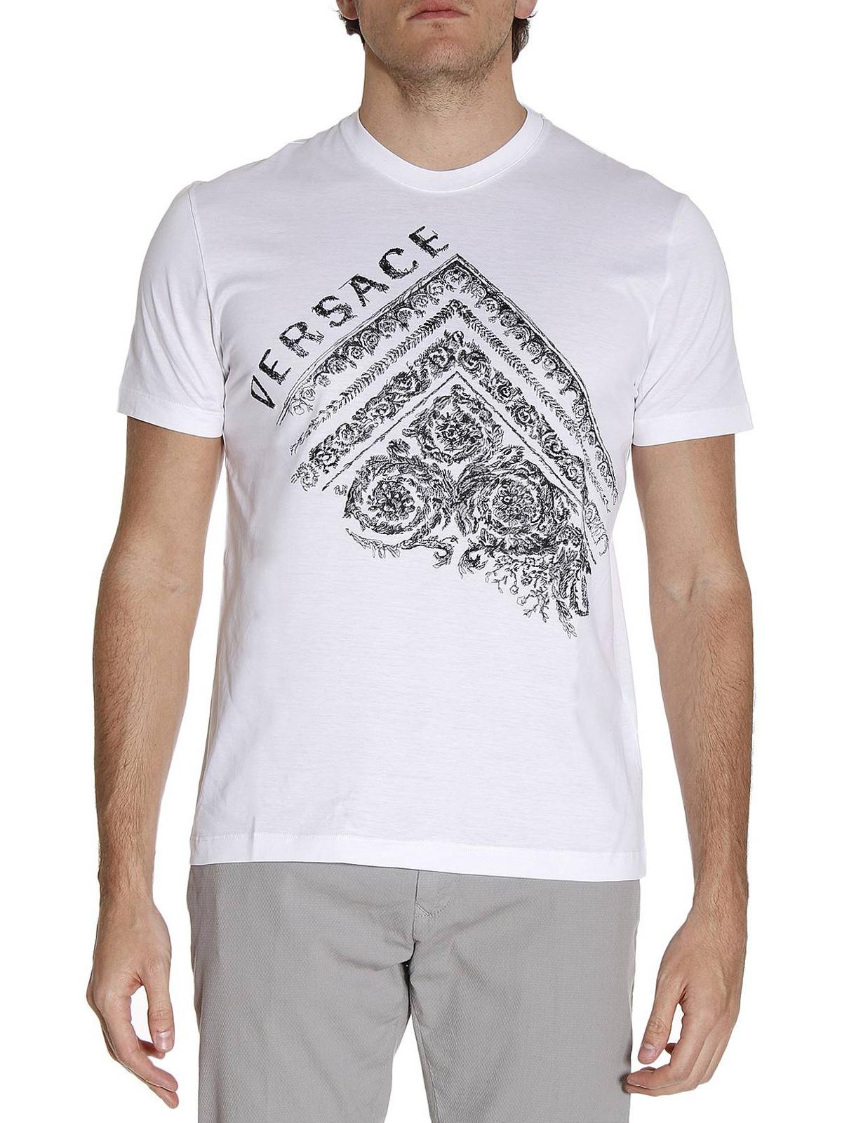 169918ff Versace - Baroque print T-shirt - t-shirts - A75860 A201952 A001
