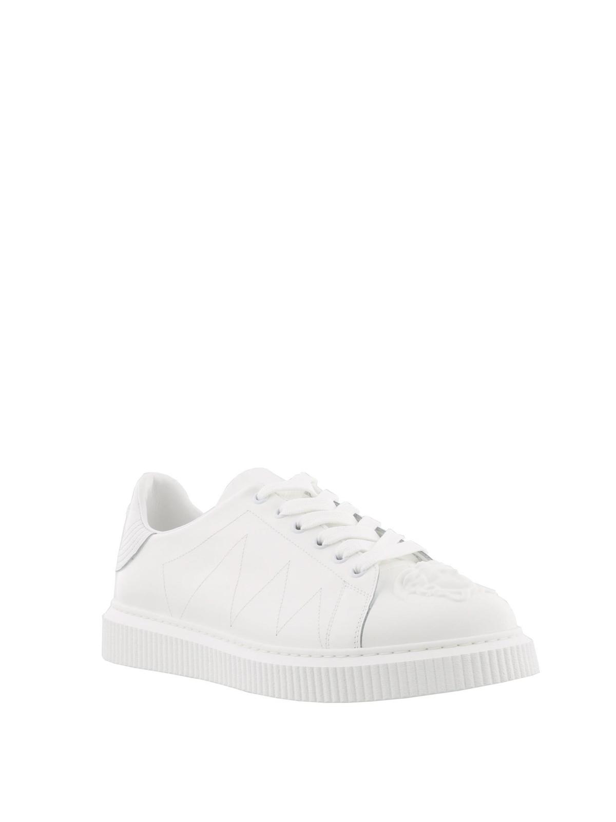 Medusa Head white leather sneakers