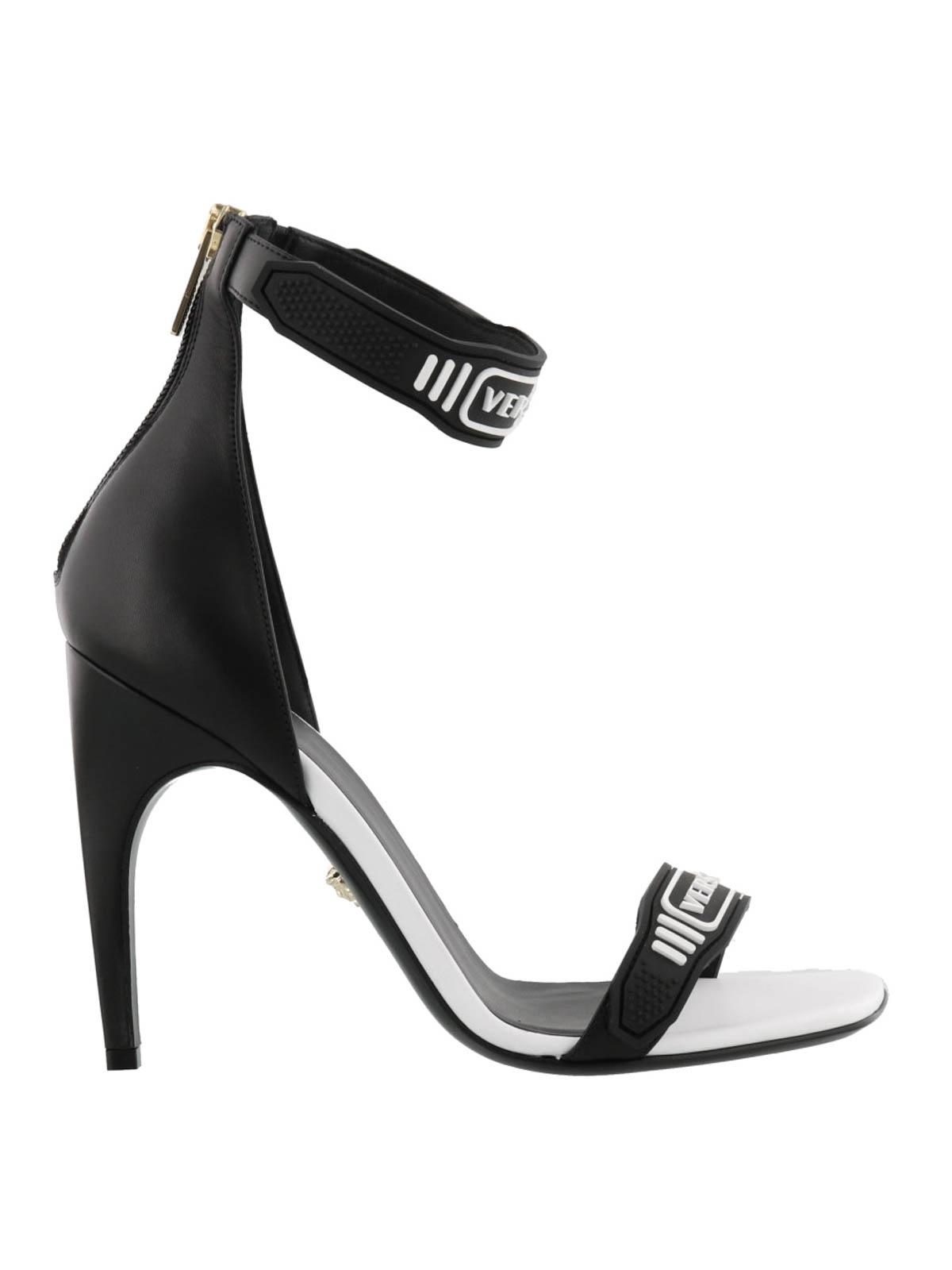 Versace Logo Strap Open Toe Sandals Sandals