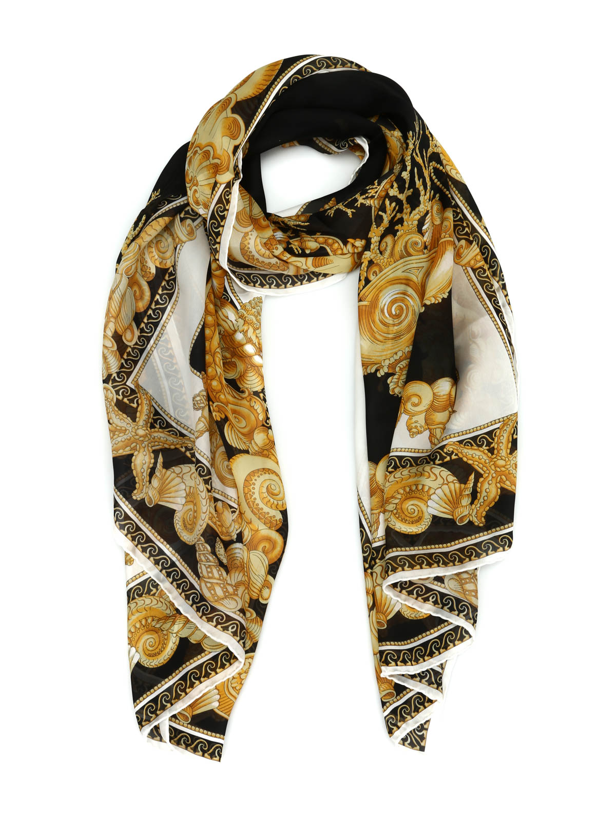 oceanic barocco scarf by versace scarves ikrix