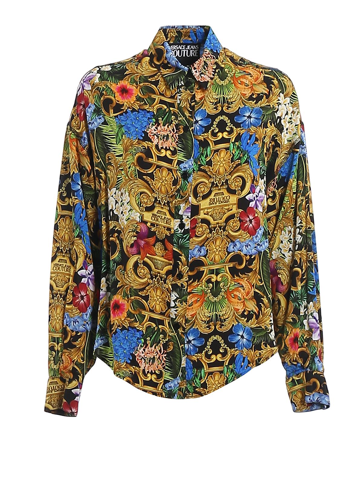 Versace Baroque Printed Shirt In Multicolour
