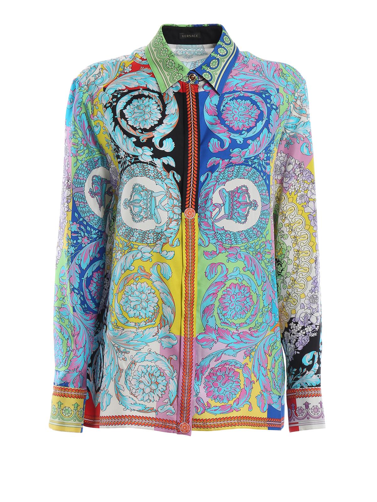 df7376fa1ee03c Versace - Multicolour baroque print silk shirt - shirts - A82662 ...