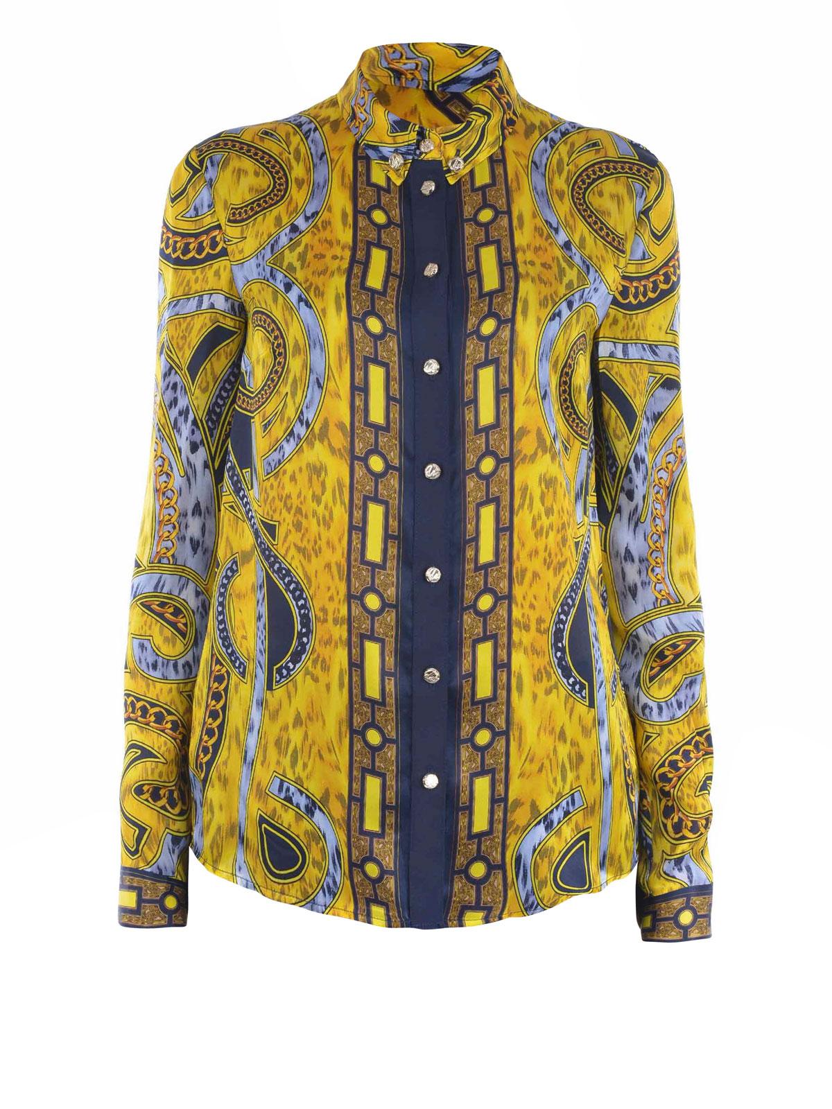 Versace - PRINTED SILK CLASSIC SHIRT - shirts - BOHMB610 ...