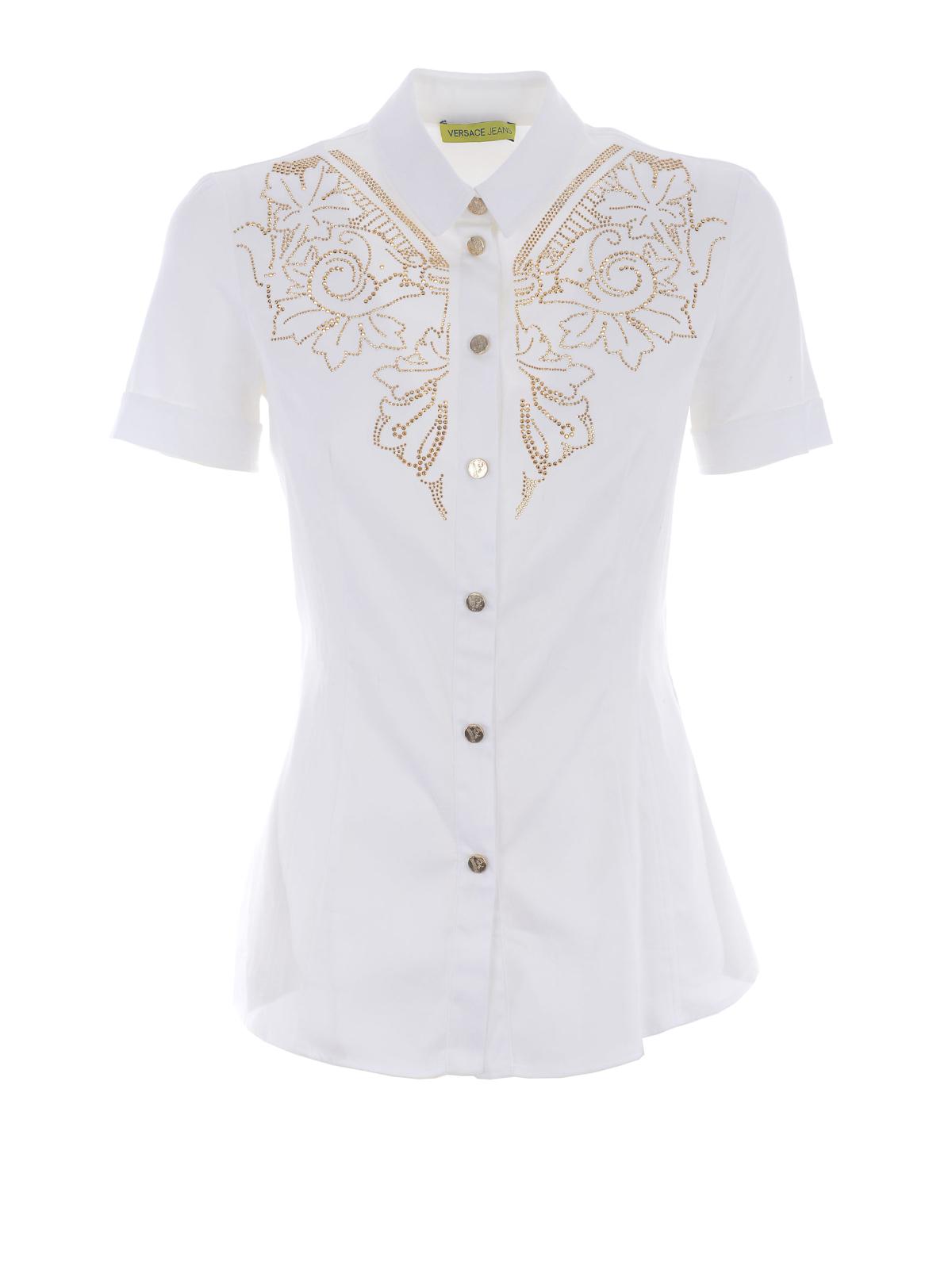 Versace jeans cotton poplin shirt by versace shirts ikrix for What is a poplin shirt