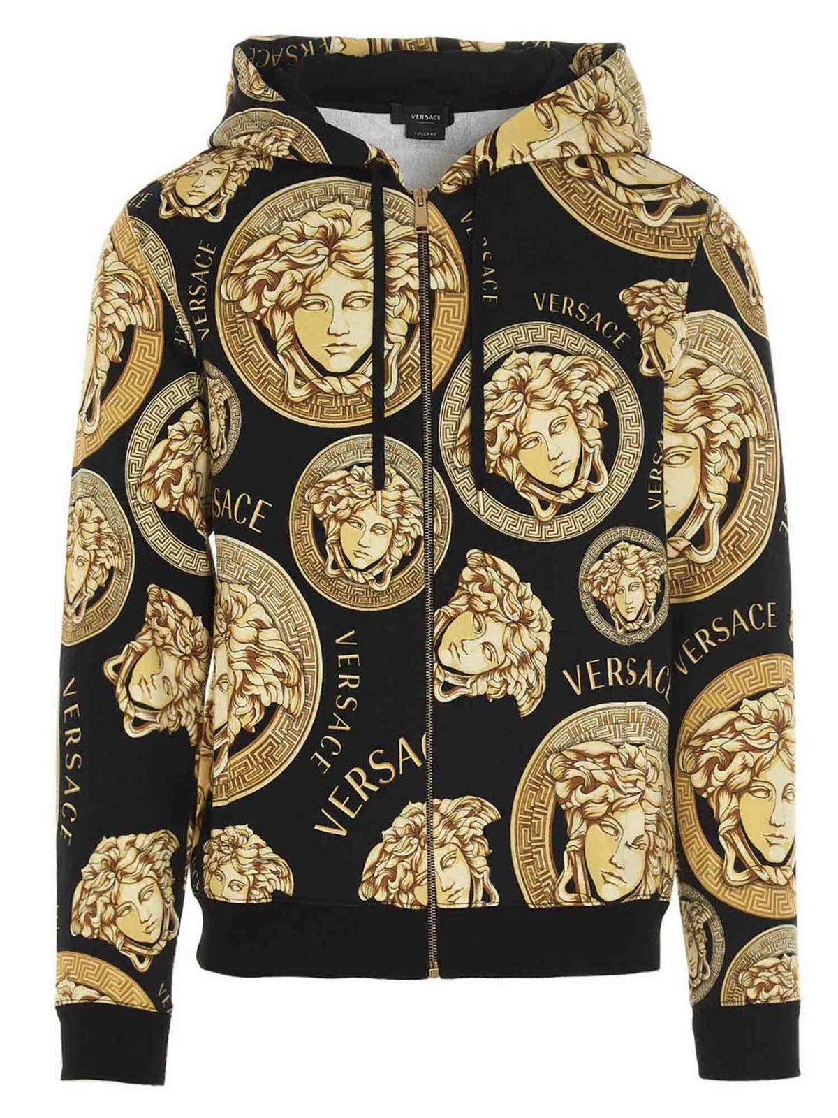Versace MEDUSA PRINT SWEATSHIRT IN BLACK