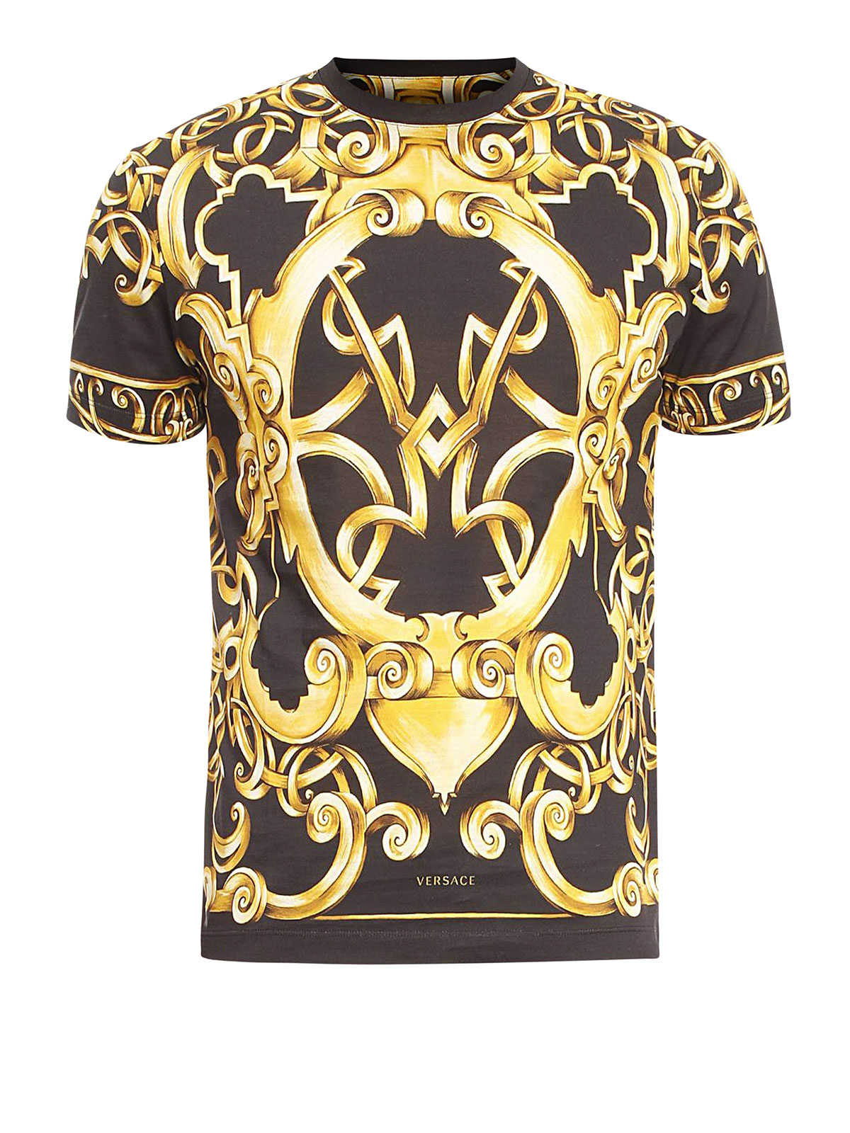 versace barocco print t shirt t shirts a68988 a218544 732. Black Bedroom Furniture Sets. Home Design Ideas