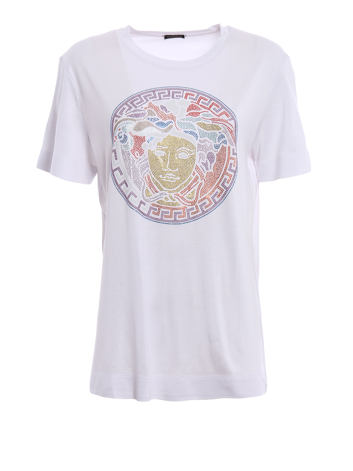 Embellished Medusa Head T-shirt by Versace - t-shirts | iKRIX