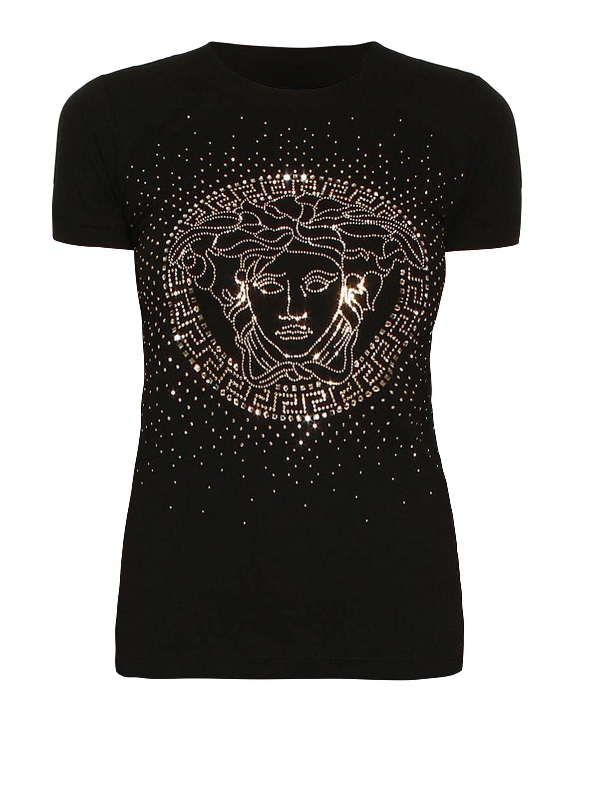 versace tshirt con logo medusa tshirt a73478