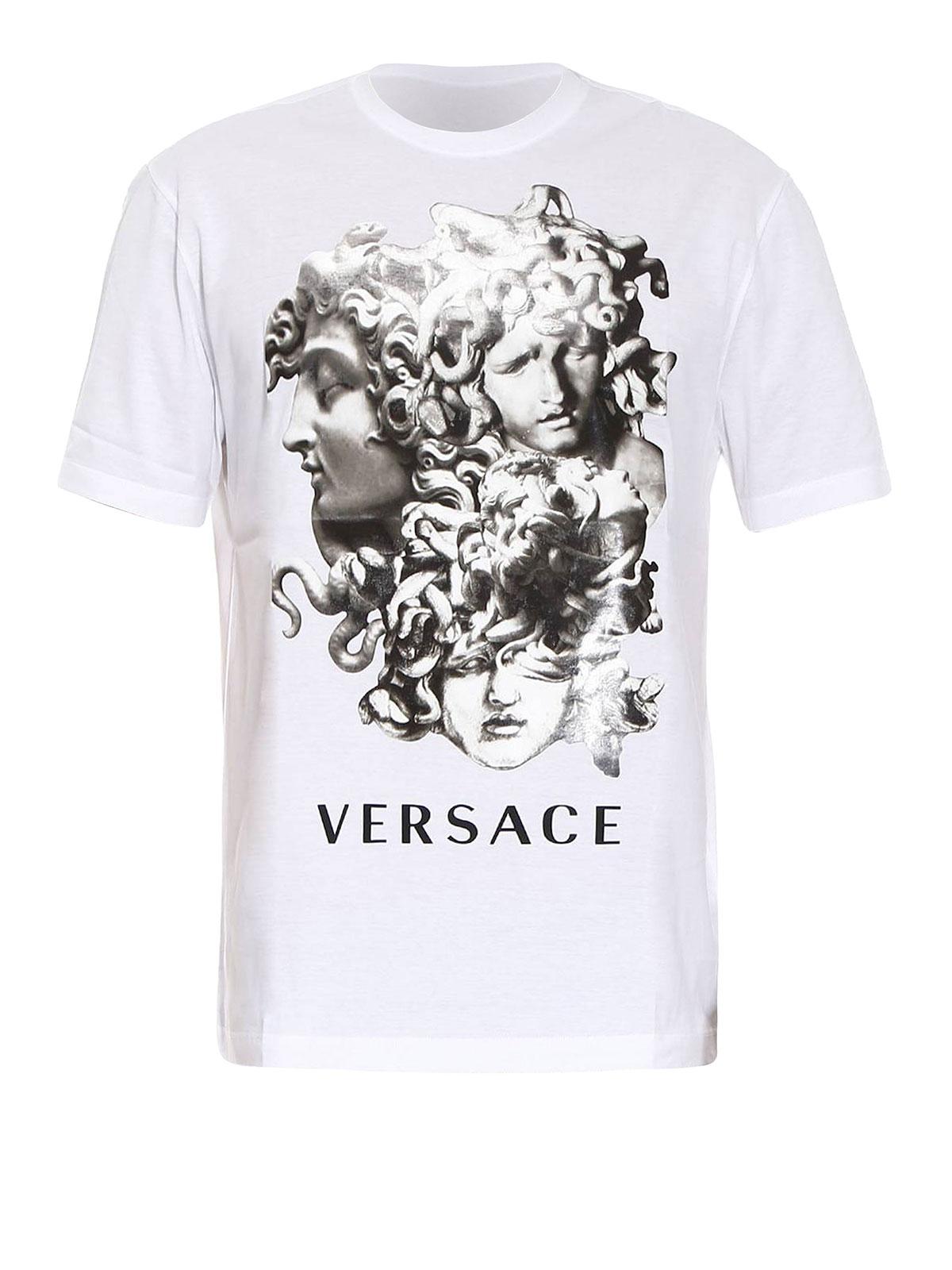 versace medusa print cotton t shirt t shirts a76586 a201952 a001. Black Bedroom Furniture Sets. Home Design Ideas