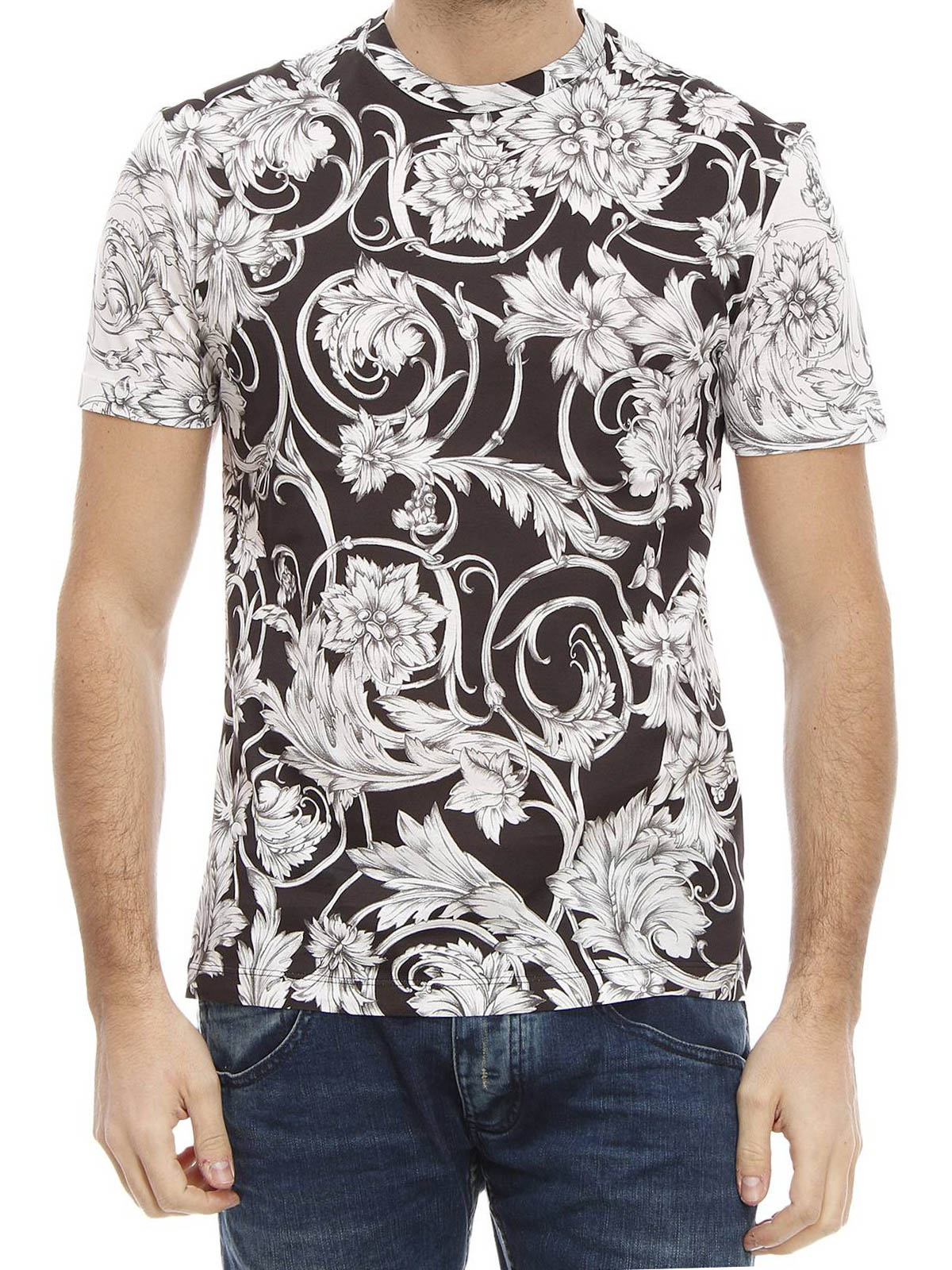 Baroque print T-shirt by Versace - t-shirts | iKRIX