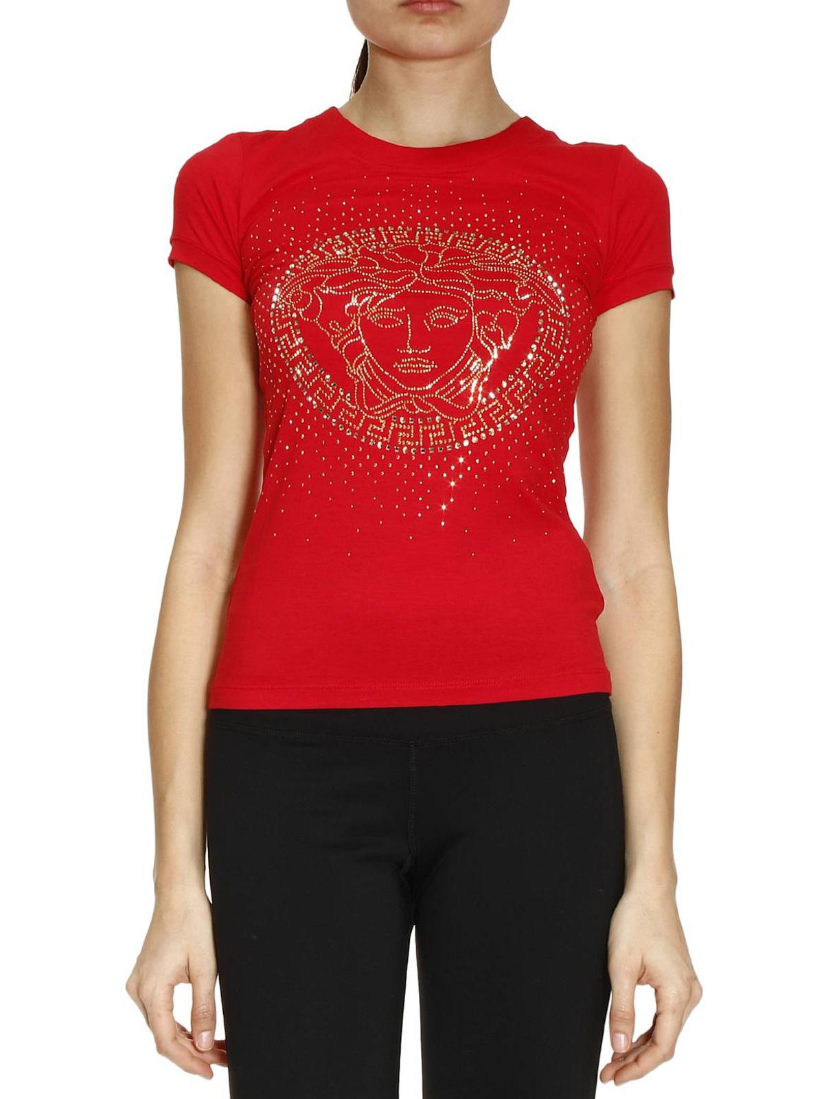 tshirt con logo medusa versace tshirt ikrix