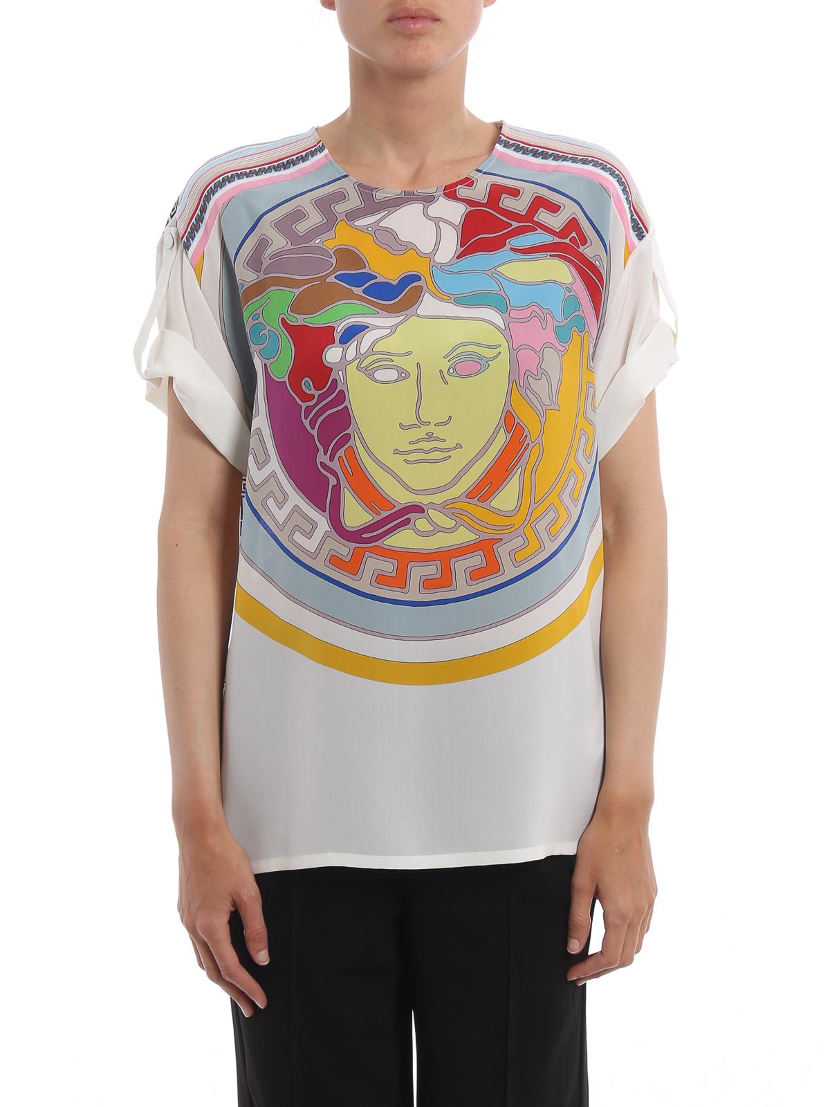 pop medusa silk tshirt by versace tshirts ikrix