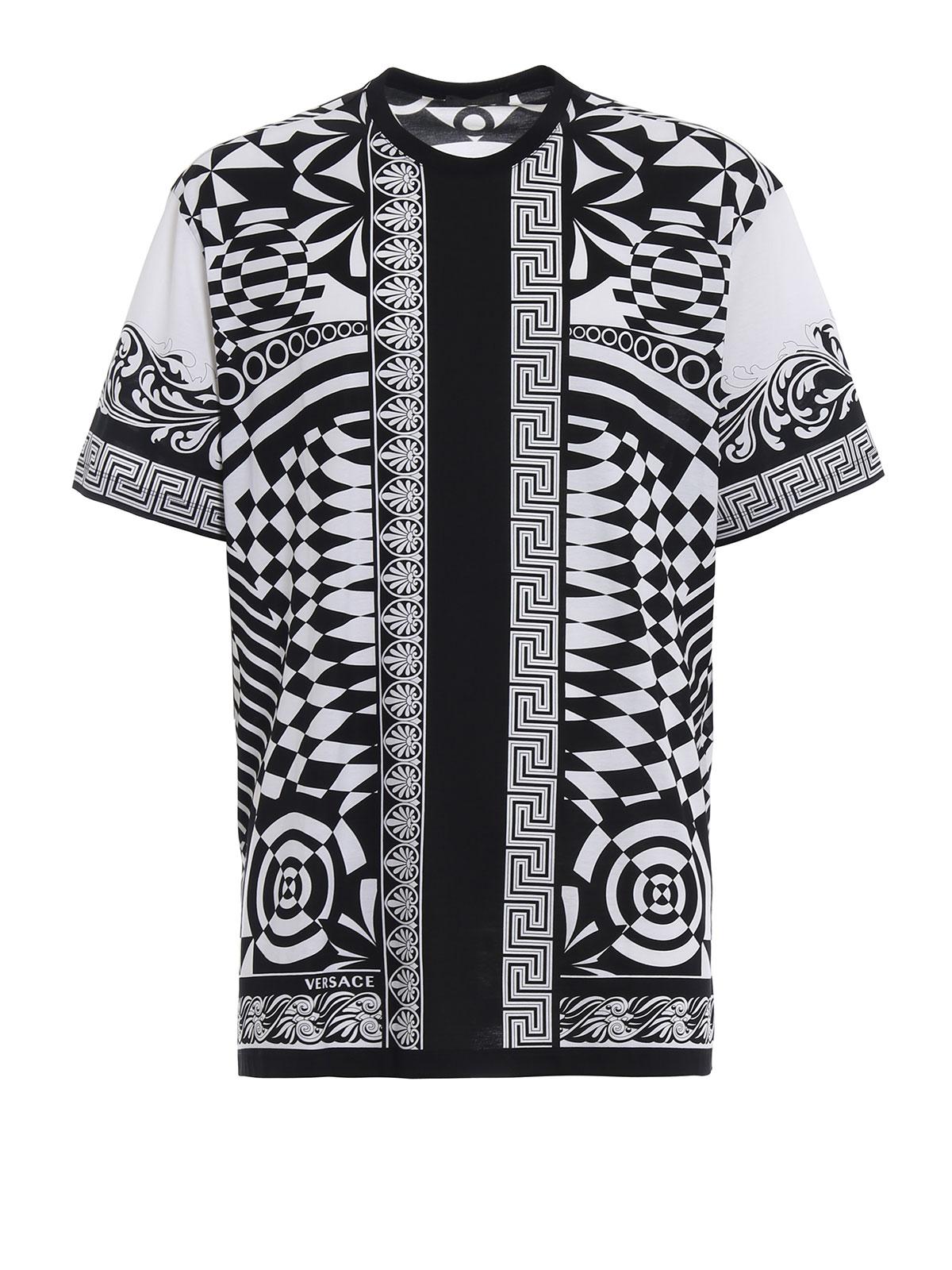 Versace - Optillusion cotton T-shirt - t-shirts