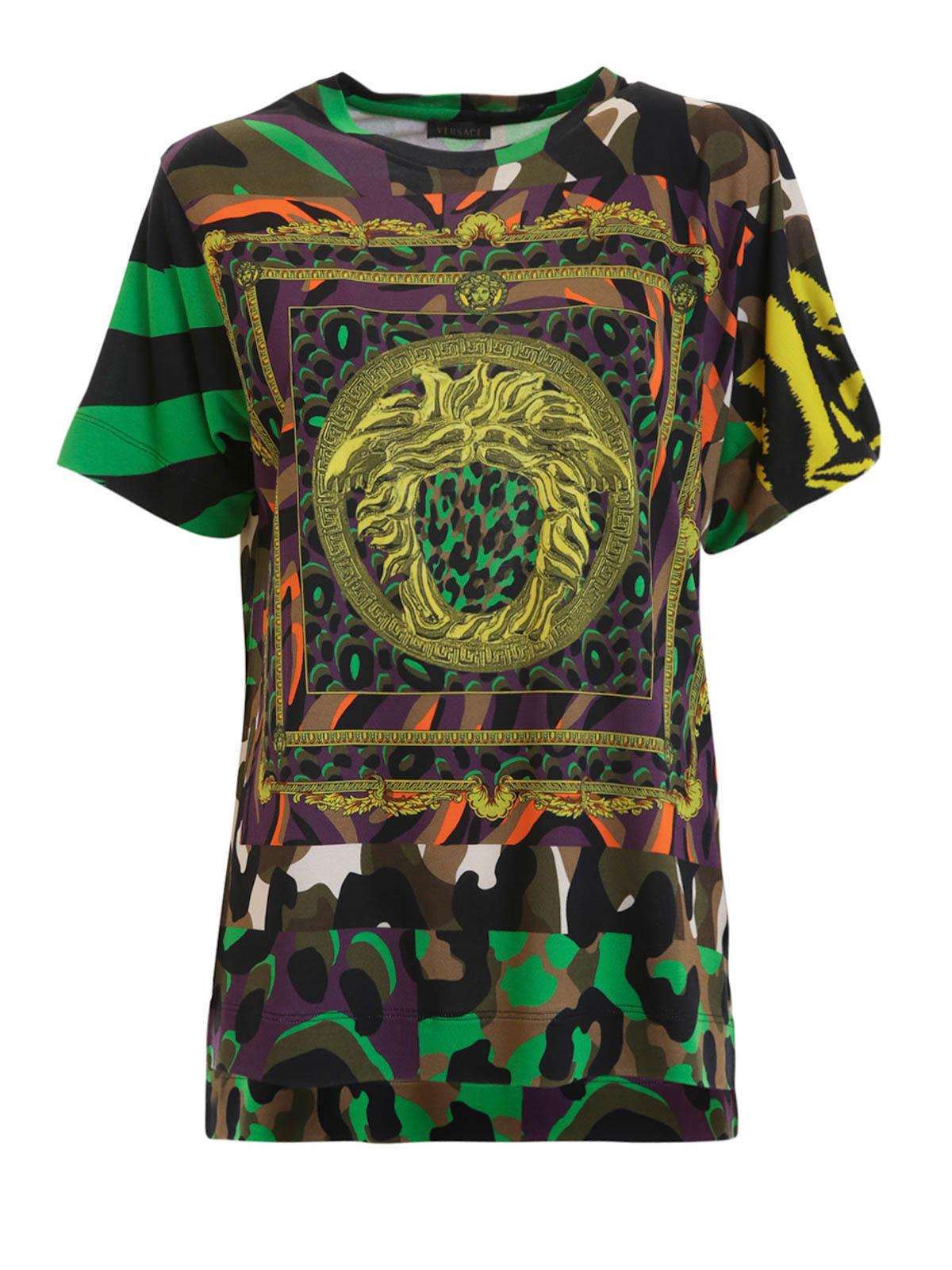 silk blend jersey tshirt by versace tshirts ikrix