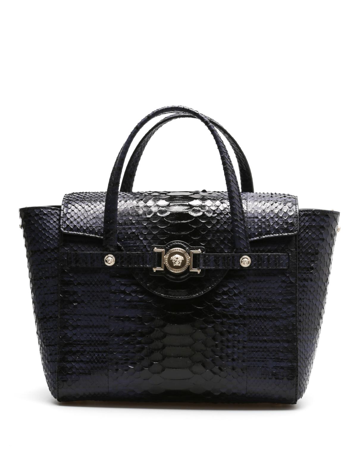 handtasche tasche aus pythonleder von versace. Black Bedroom Furniture Sets. Home Design Ideas