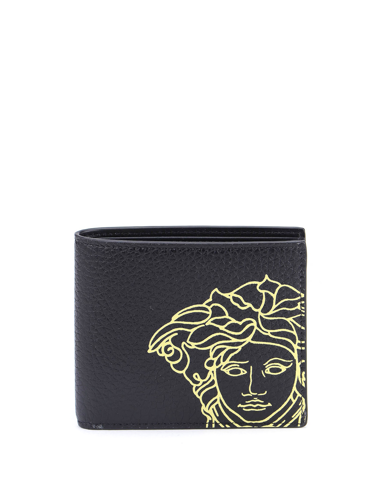 Versace HAMMERED LEATHER BI-FOLD WALLET