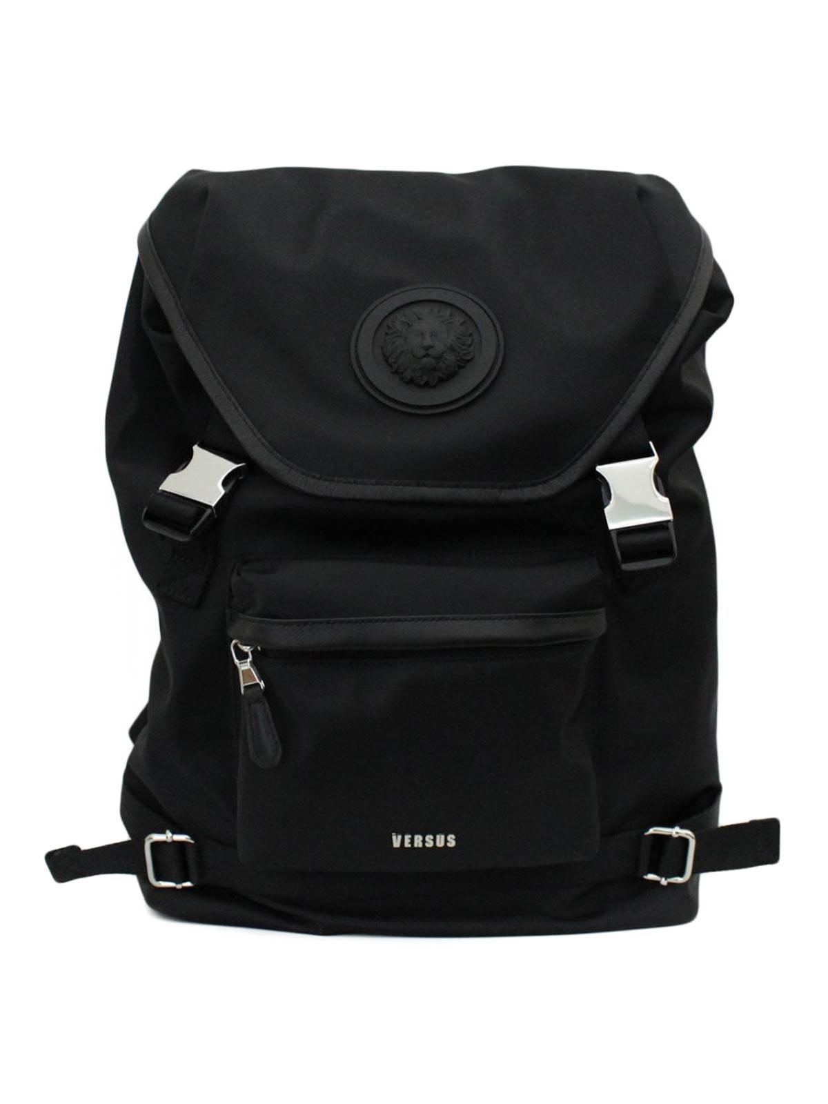 Versus Versace - Lion Head nylon backpack - backpacks - FBU0064FNMRA ... ada85655a0518