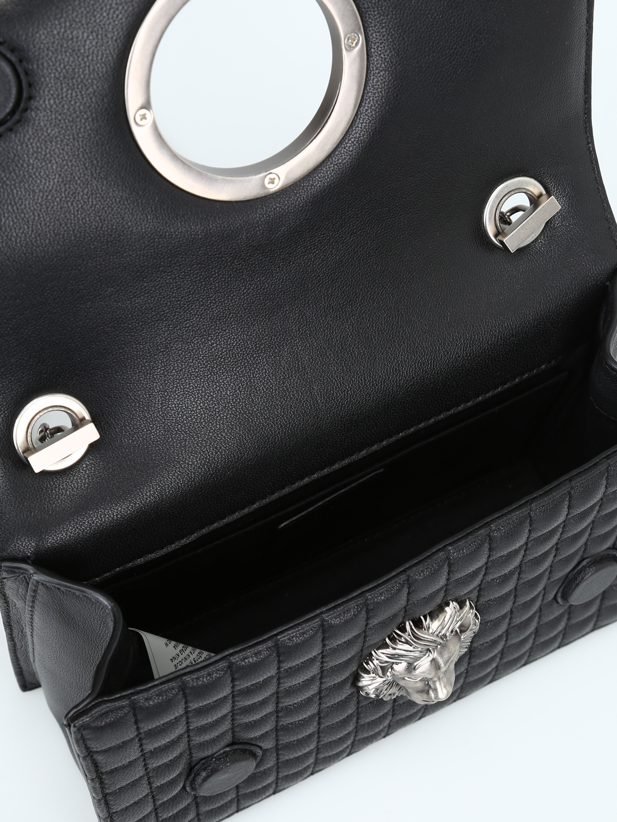 Versus Versace - Quilted leather bag with Lion Head - cross body ... d75f18f0a4252