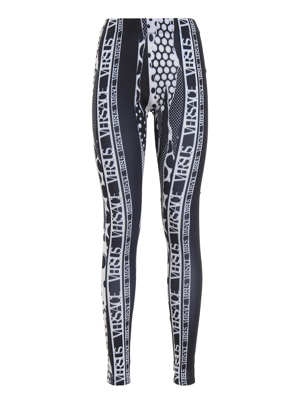 f3fee06000 Versus Versace - Logo print jersey leggings - leggings ...