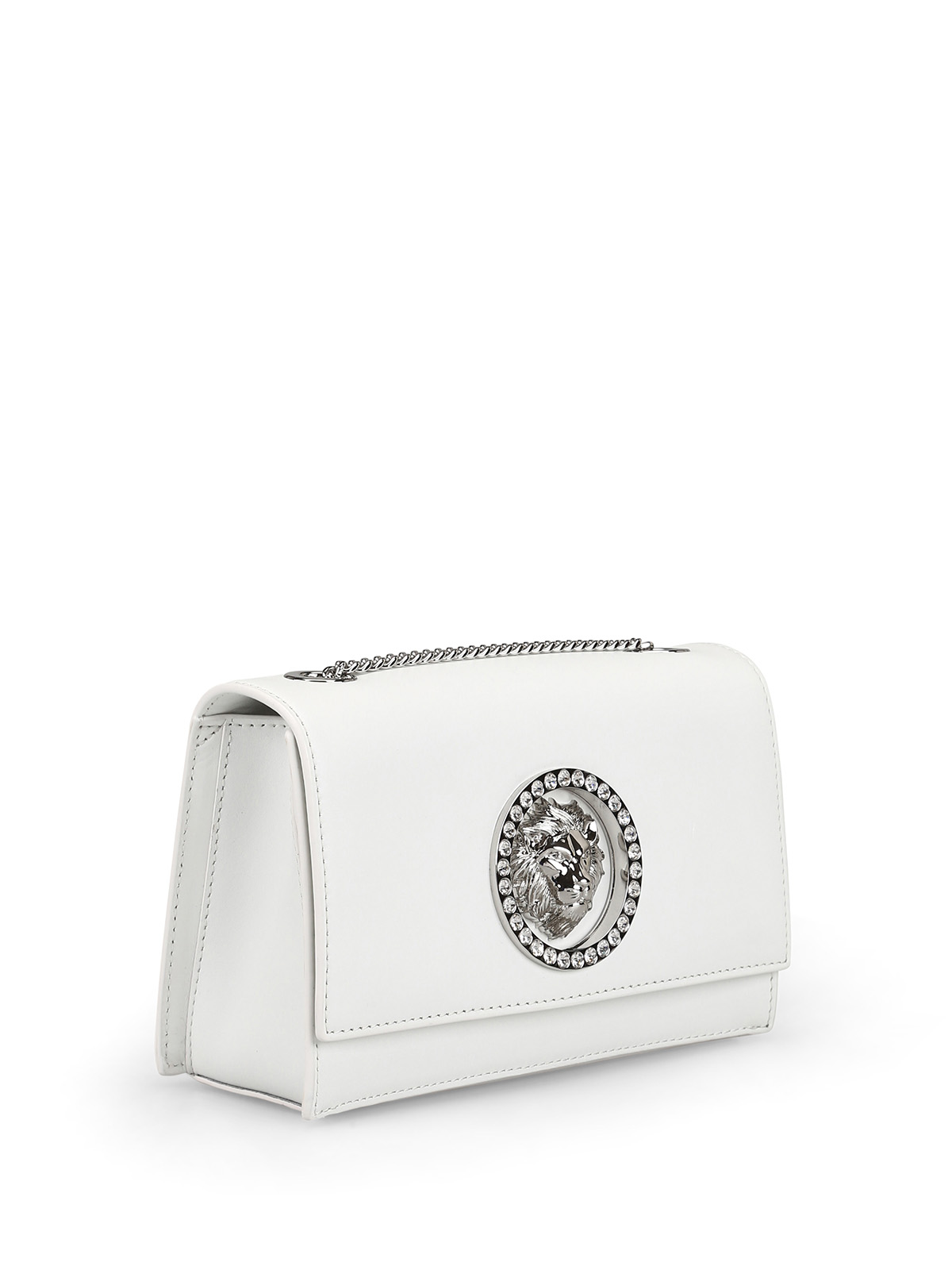 72fbead2be1 Versus Versace: clutches online - Crystal eyelet Lion Head white clutch