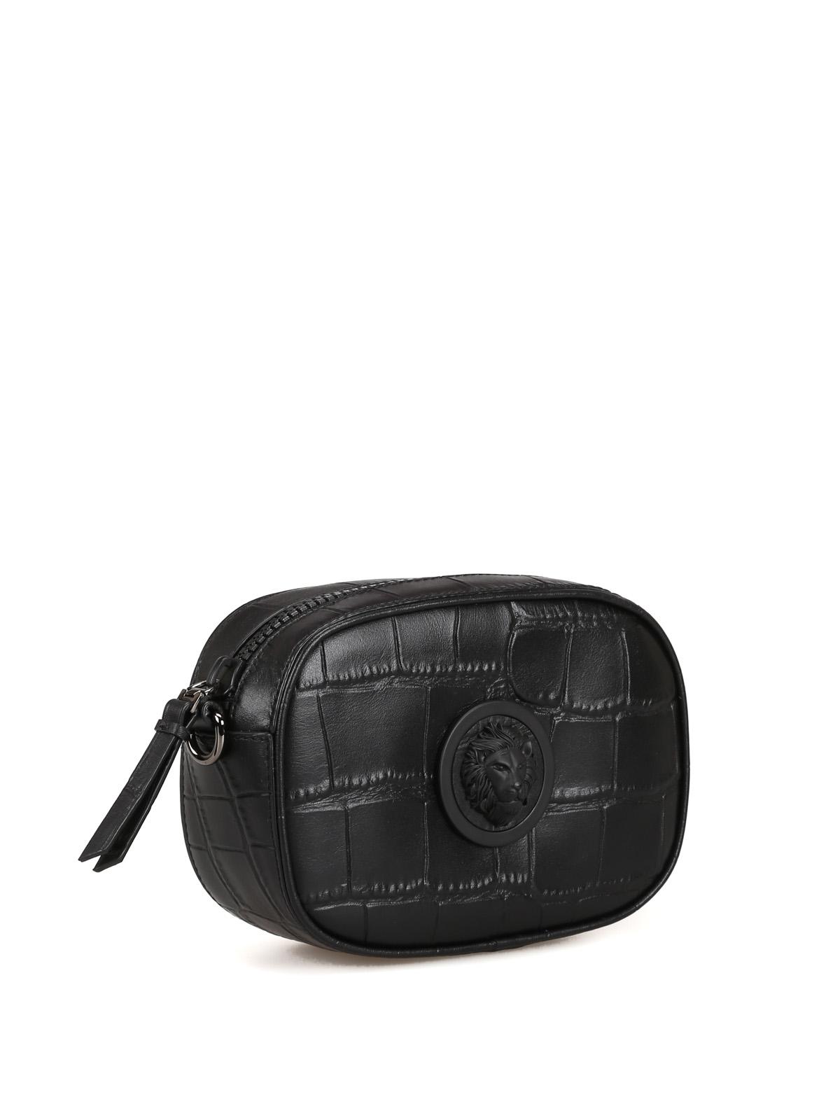 fae3cbe5 Versus Versace - Lion Head printed leather camera bag - cross body ...
