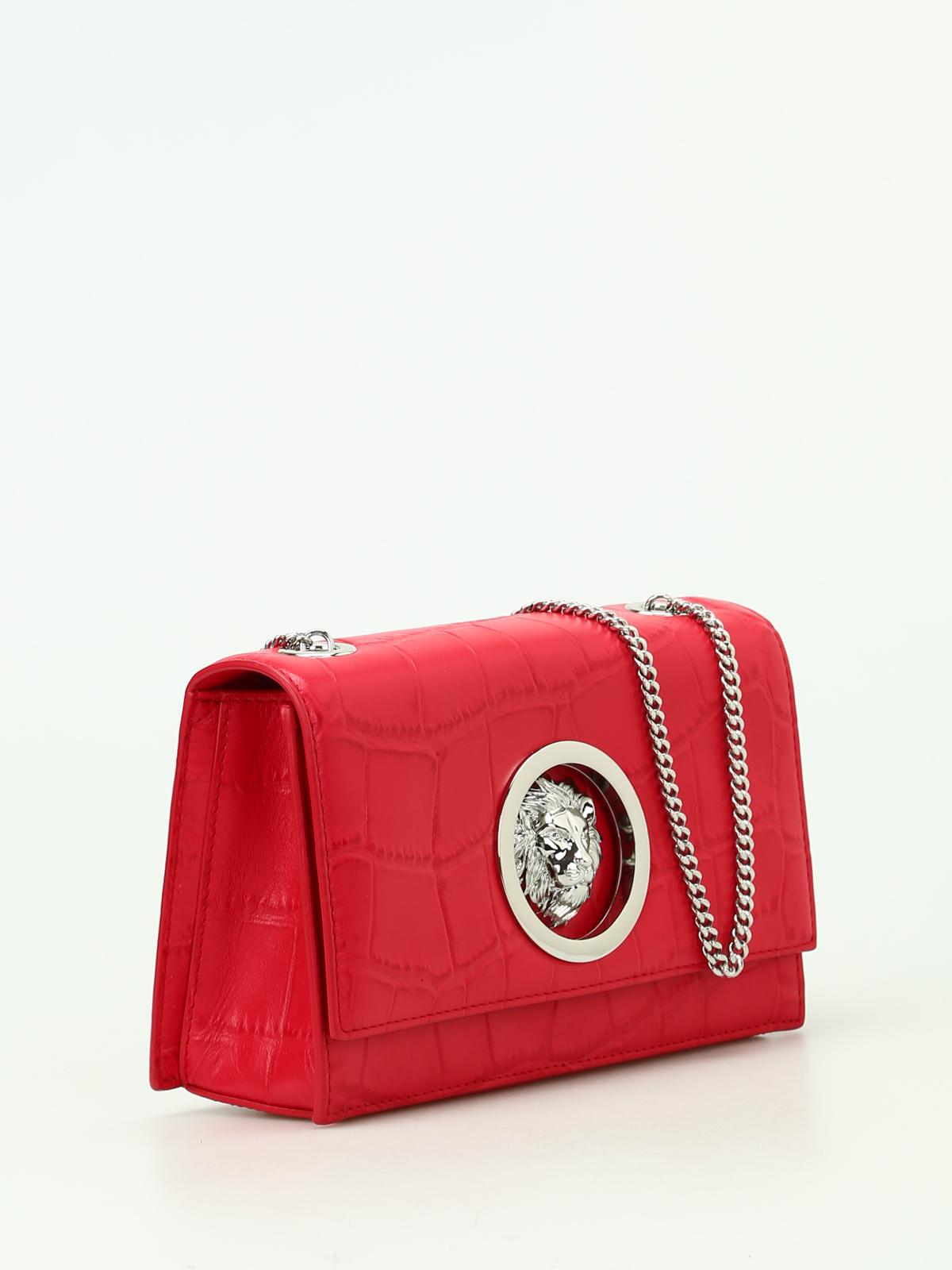 3f2510e1 Versus Versace - Lion Head red croco leather bag - cross body bags ...