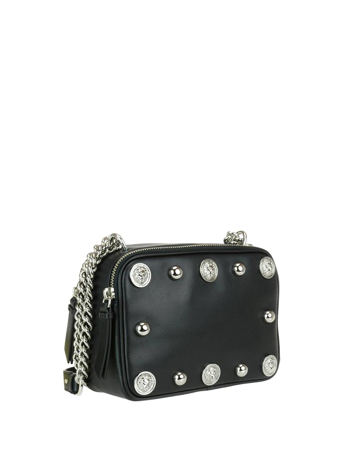 Versus Versace  cross body bags online - Lion Head studded leather bag bd87ac1338460